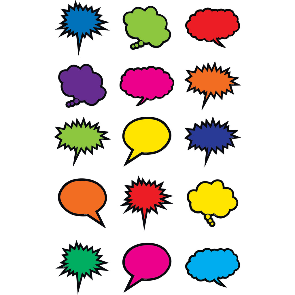 Teacher Created Resources Colorful Speech/Thought Bubbles Mini Accents