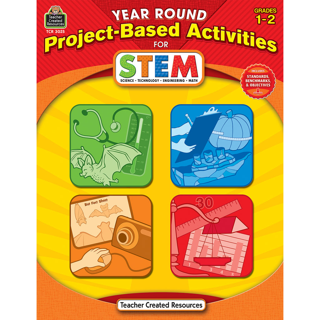 Teacher Created Resources Year Round Project-Based Activities Book for STEM Grade 1-2
