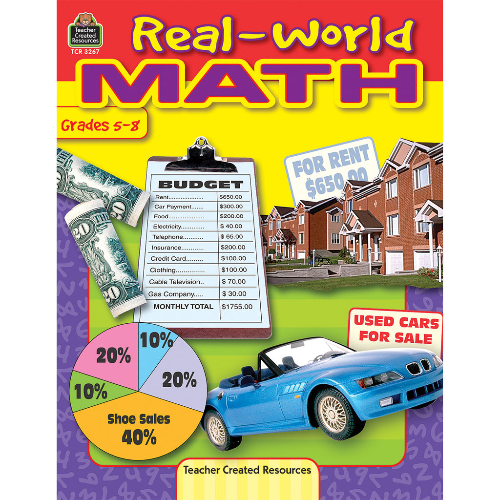 Teacher Created Resources Real-World Math Activity Book, Grades 5-8