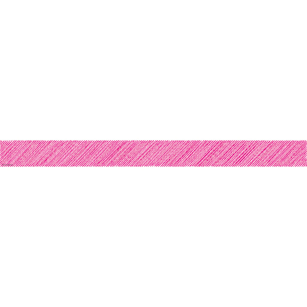 Teacher Created Resources Hot Pink Scribble Straight Bulletin Board Border Trim