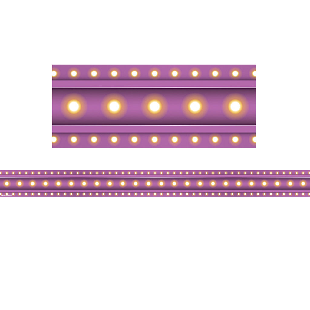 Teacher Created Resources Purple Marquee Straight Bulletin Board Border Trim