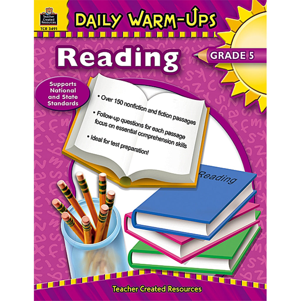 Teacher Created Resources Daily Warm-Ups: Reading, Grade 5