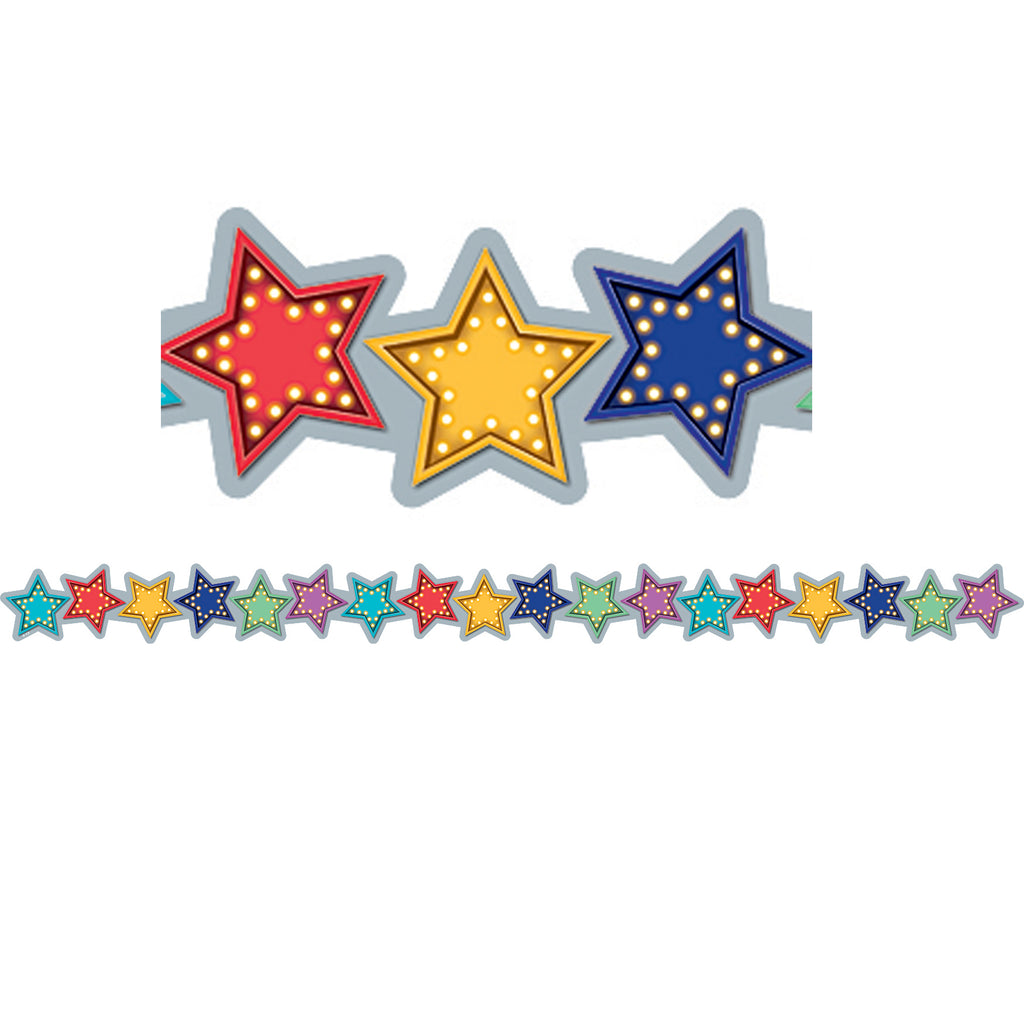 Teacher Created Resources Marquee Stars Die-Cut Bulletin Board Border Trim