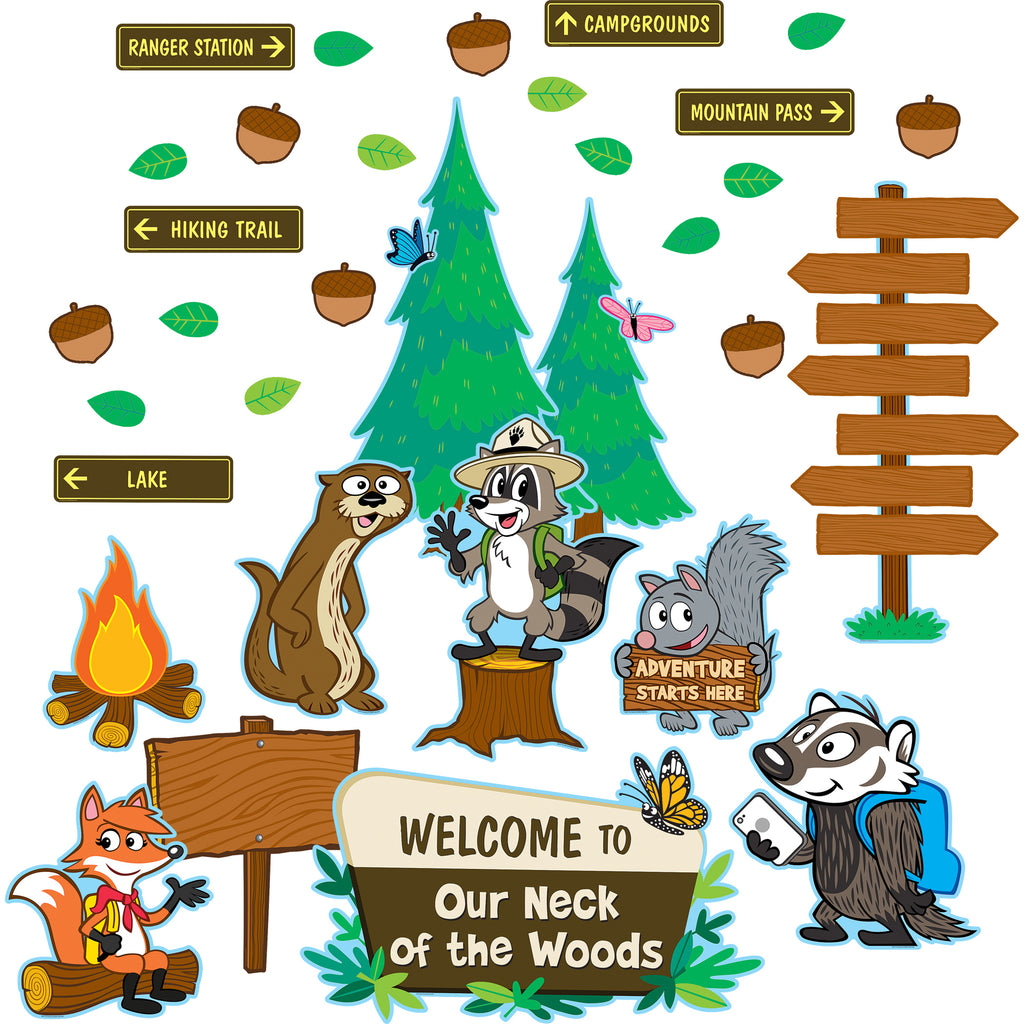 Teacher Created Resources Ranger Rick Welcome to Our Neck of the Woods Bulletin Board Set