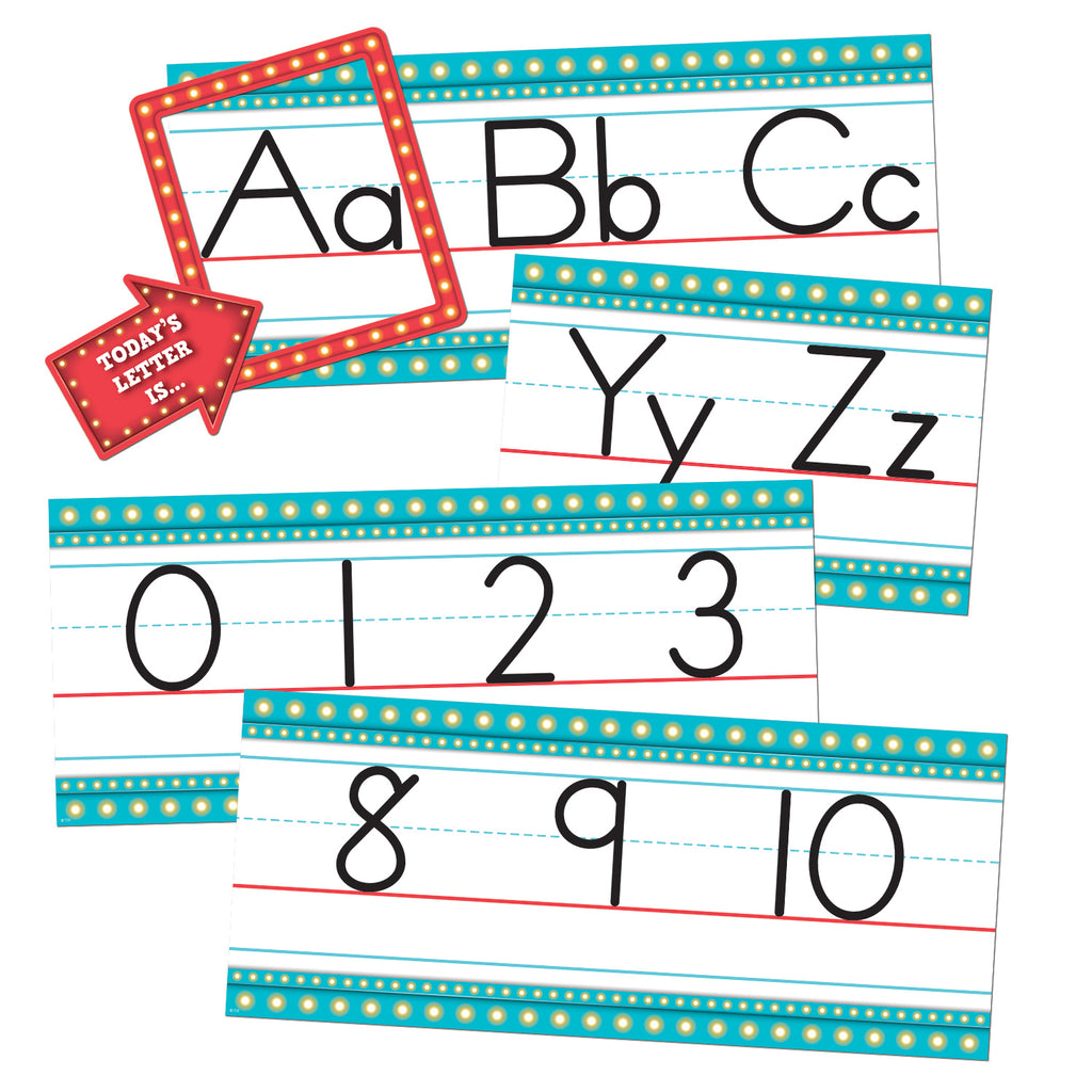 Teacher Created Resources Marquee Alphabet Line Bulletin Board Display Set