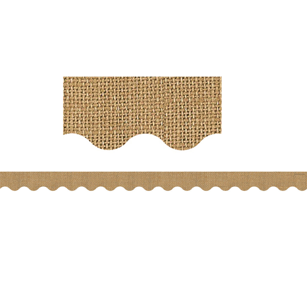 Teacher Created Resources Burlap Scalloped Bulletin Board Border Trim