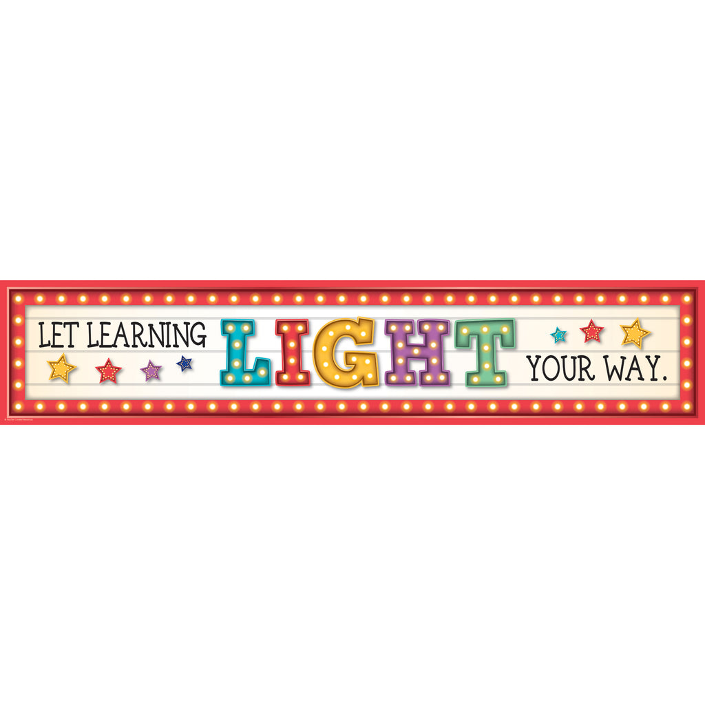 Teacher Created Resources Marquee Let Learning Light Your Way Banner