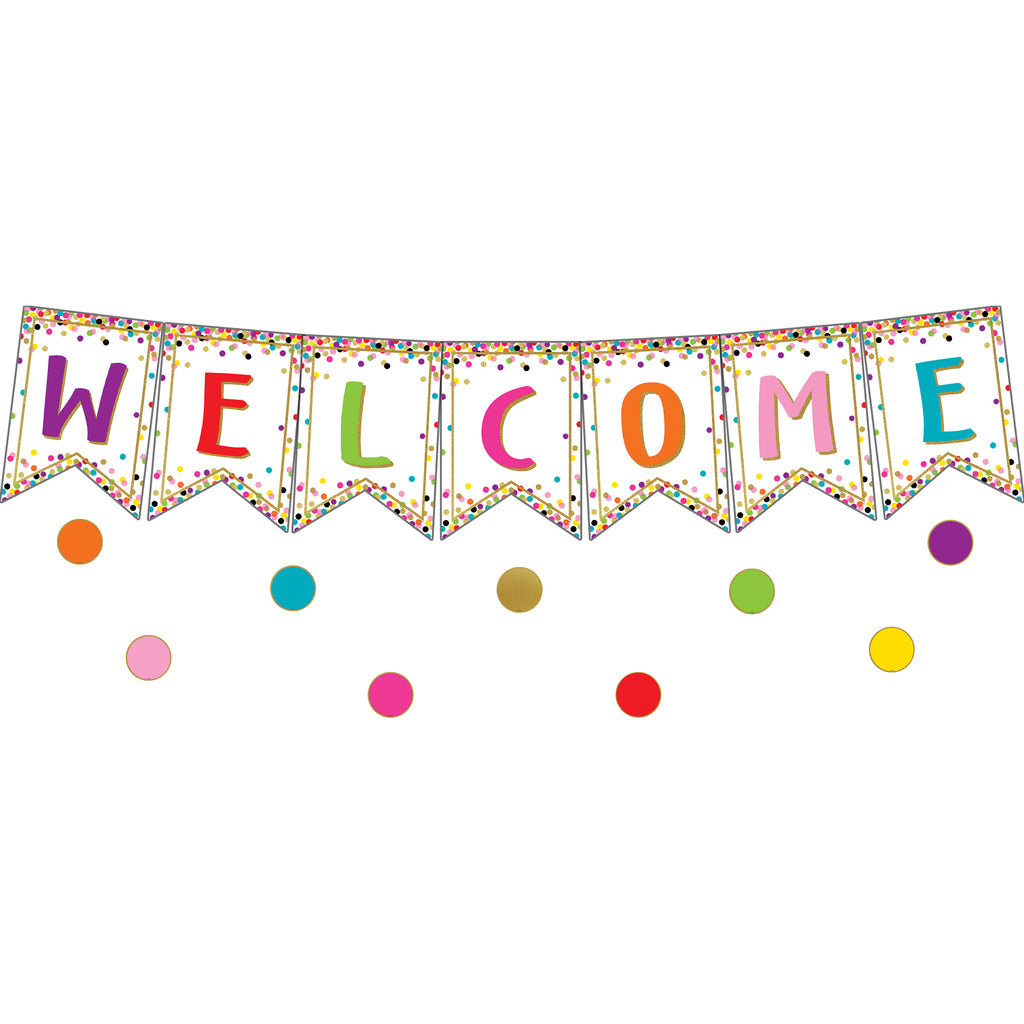 Teacher Created Resources Confetti Pennants Welcome Bulletin Board Set