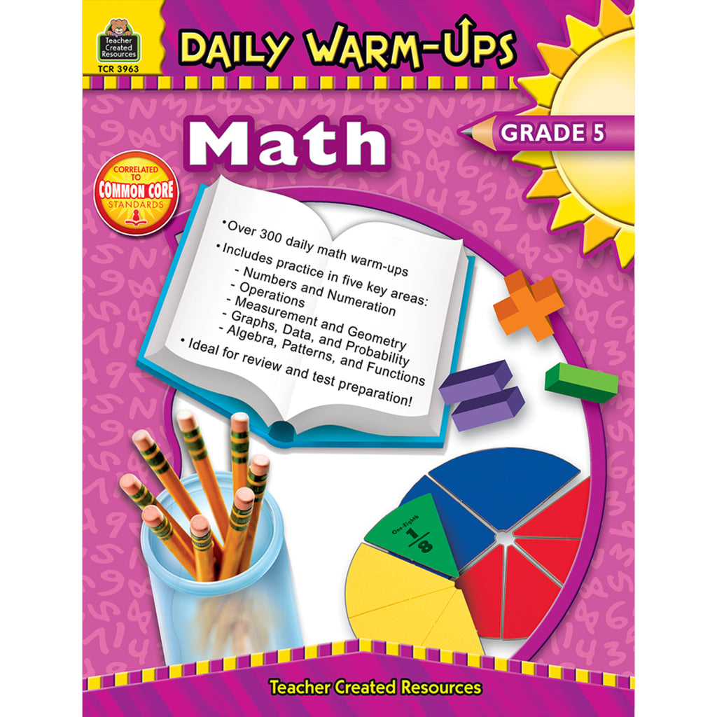 Teacher Created Resources Daily Warm-Ups: Math, Grade 5
