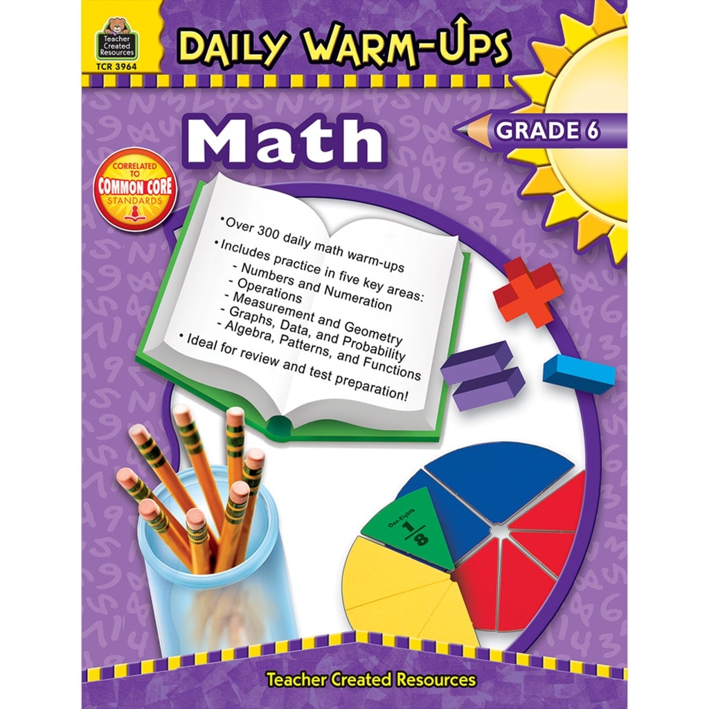 Teacher Created Resources Daily Warm-Ups: Math, Grade 6