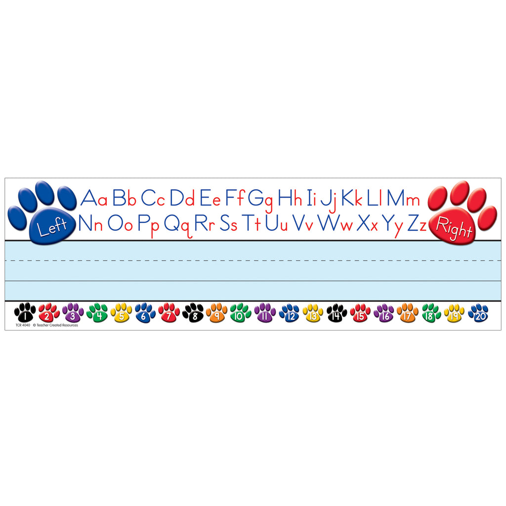 Teacher Created Resources Paw Prints Left/Right Alphabet Name Plates (flat)