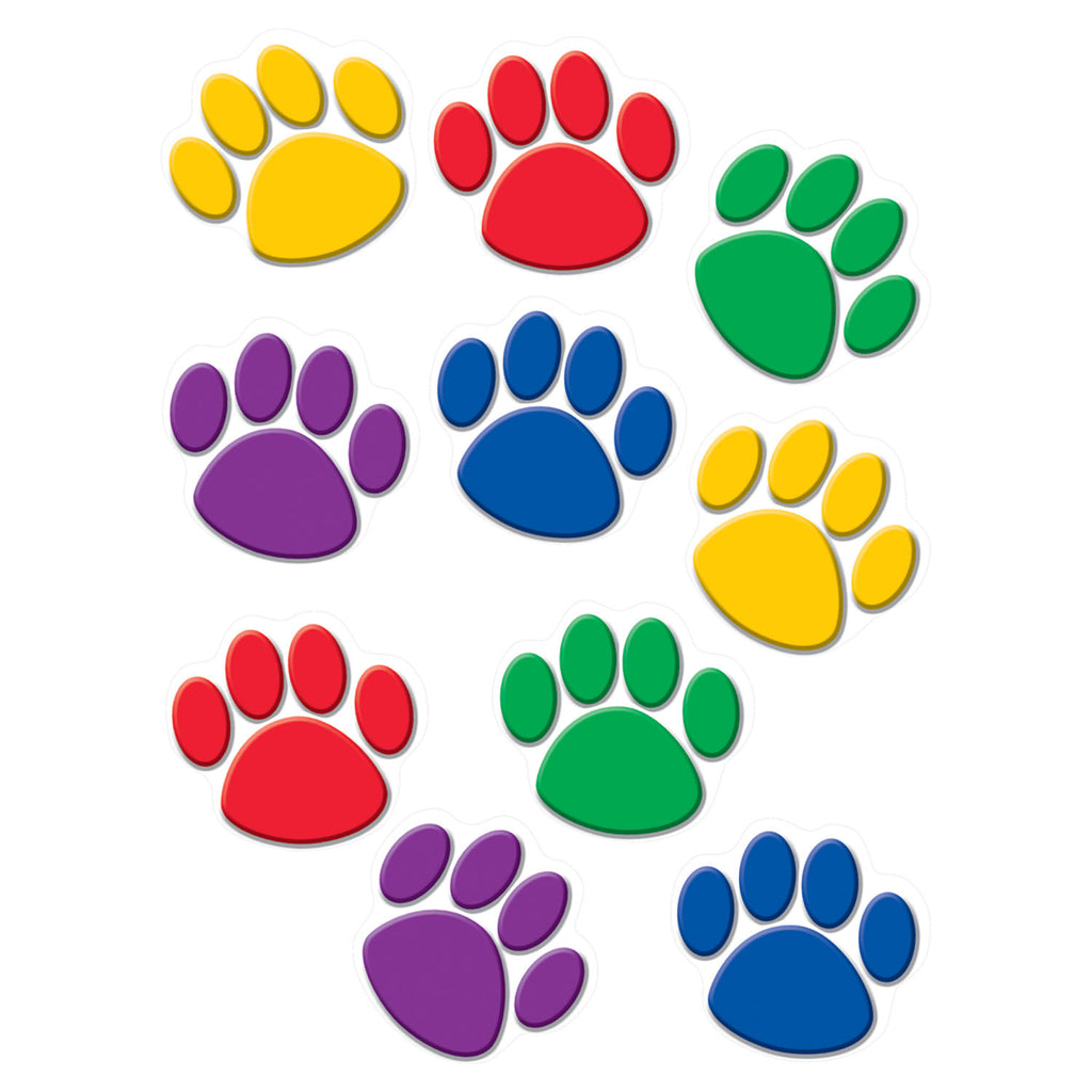 Teacher Created Resources Colorful Paw Prints Accents