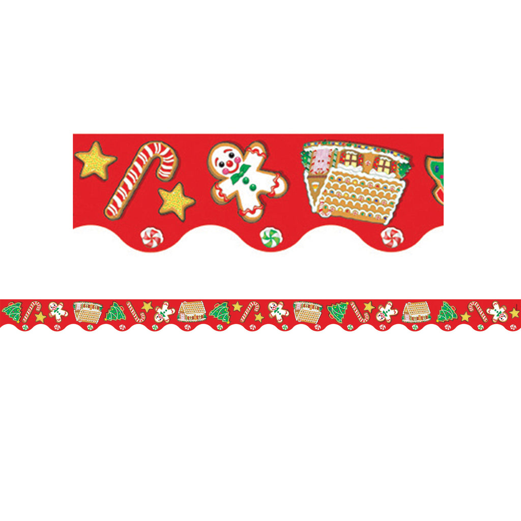 Teacher Created Resources Christmas Bulletin Board Border, Scalloped