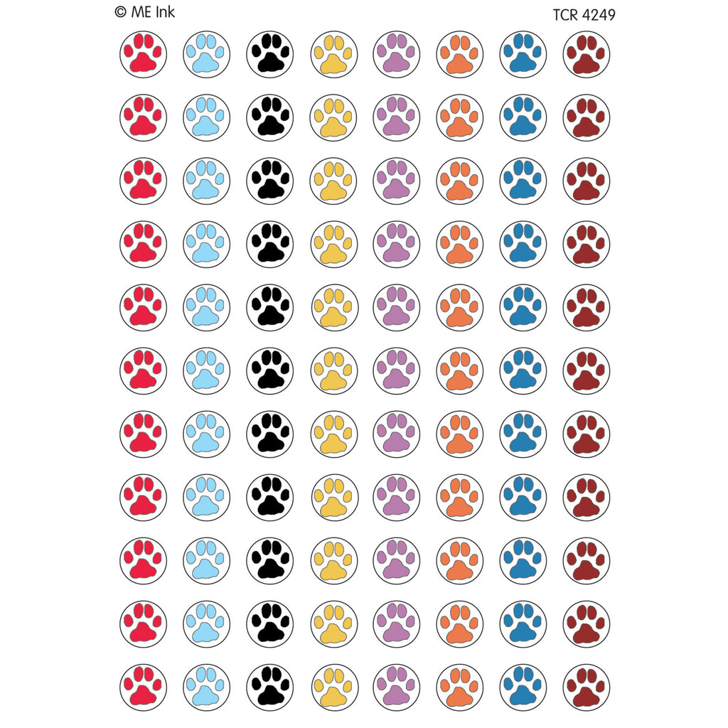 Teacher Created Resources Puppy Paw Prints Mini Stickers from Mary Engelbreit
