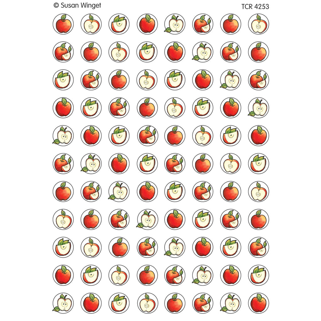 Teacher Created Resources Apples Mini Stickers from Susan Winget