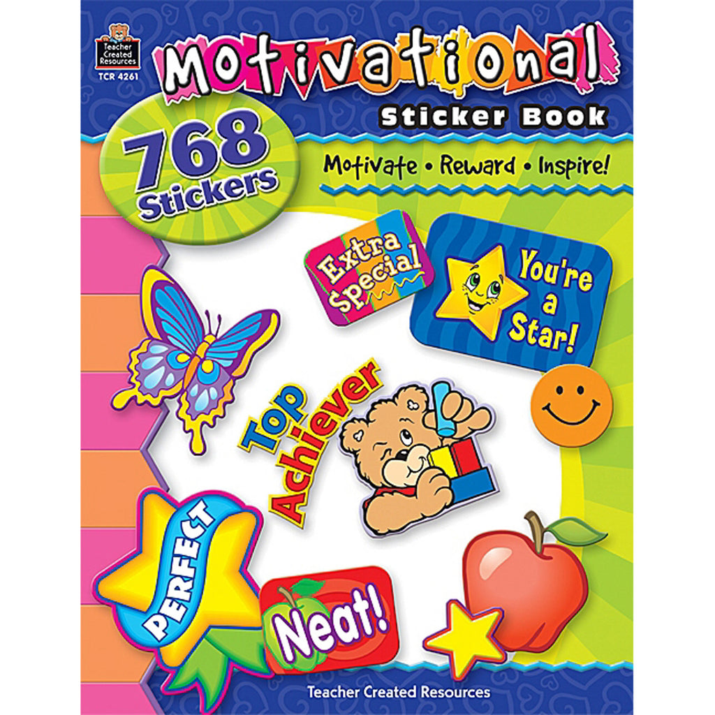 Teacher Created Resources Motivational Sticker Book