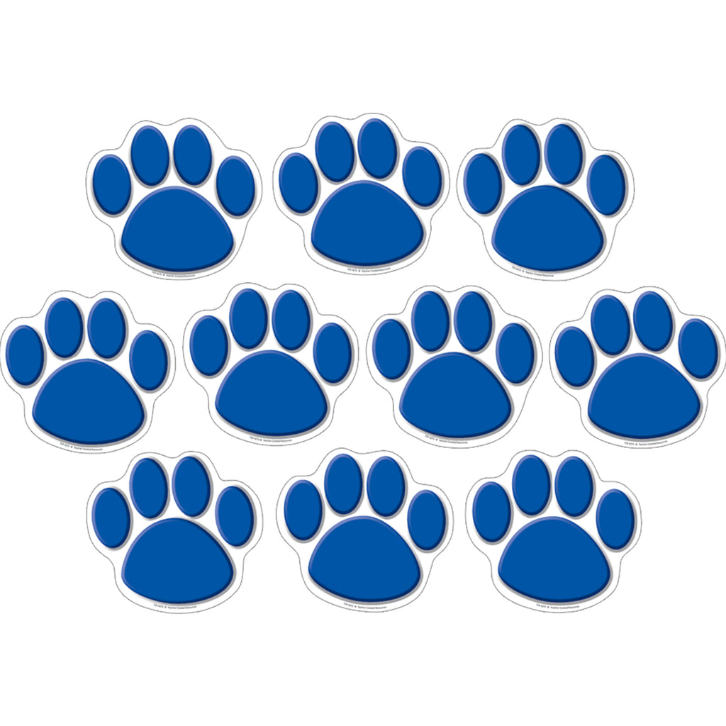 Teacher Created Resources Blue Paw Prints Accents