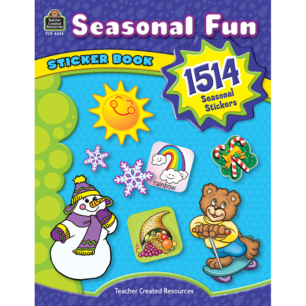 Teacher Created Resources Seasonal Fun Sticker Book