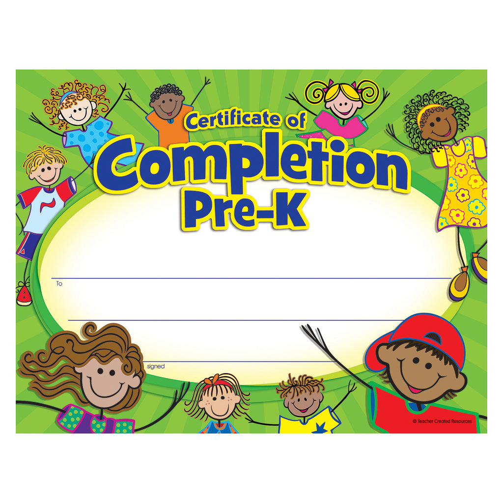 Teacher Created Resources PreK Certificate of Completion