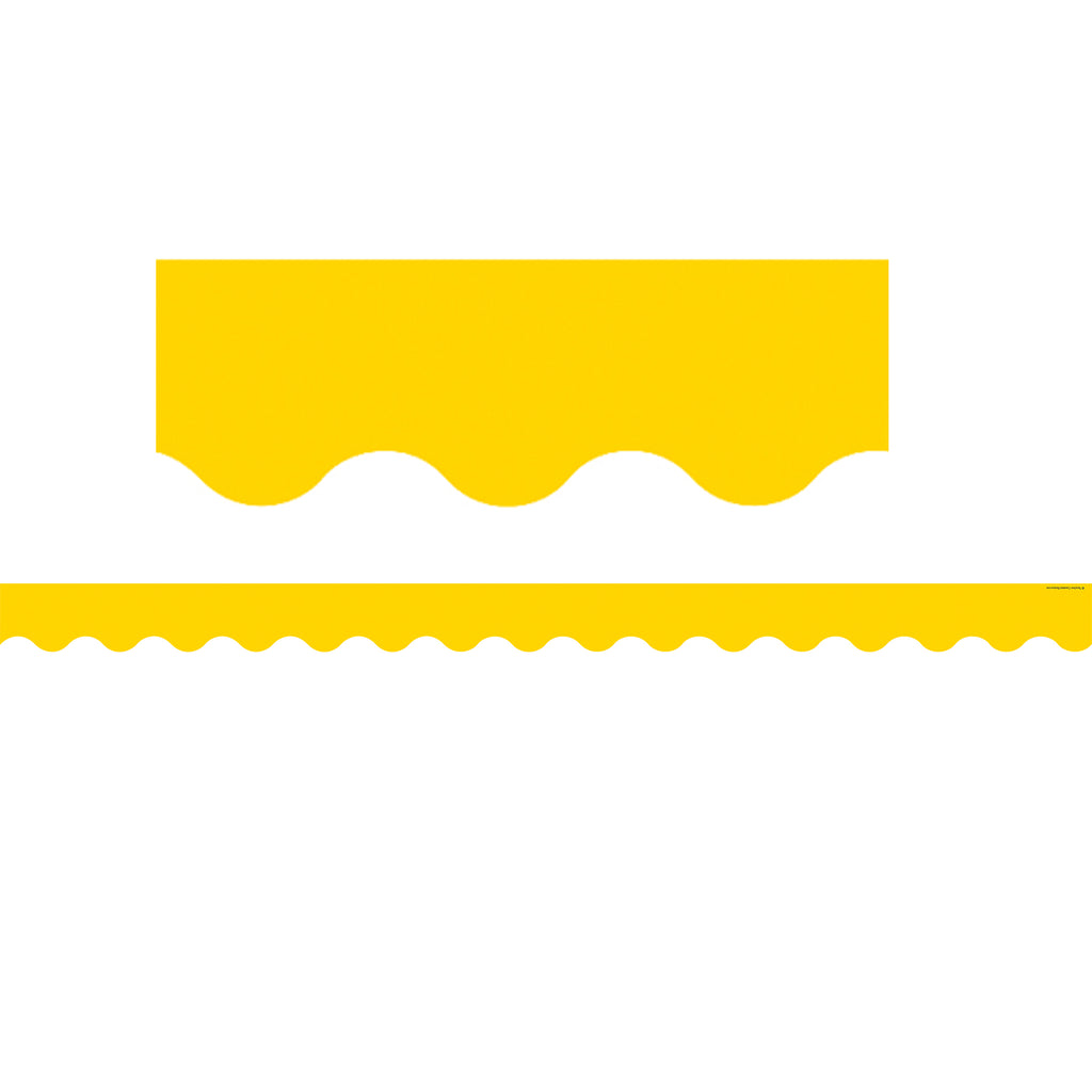 Teacher Created Resources Yellow Gold Scalloped Bulletin Board Border Trim