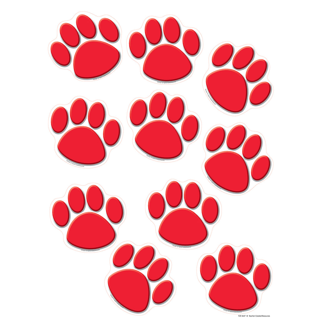 Teacher Created Resources Red Paw Prints Accents