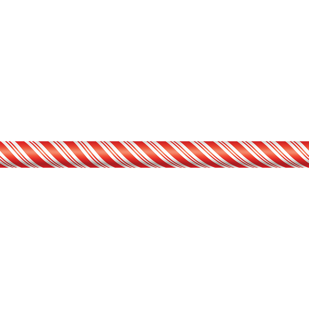 Teacher Created Resources Candy Cane Straight Border Trim