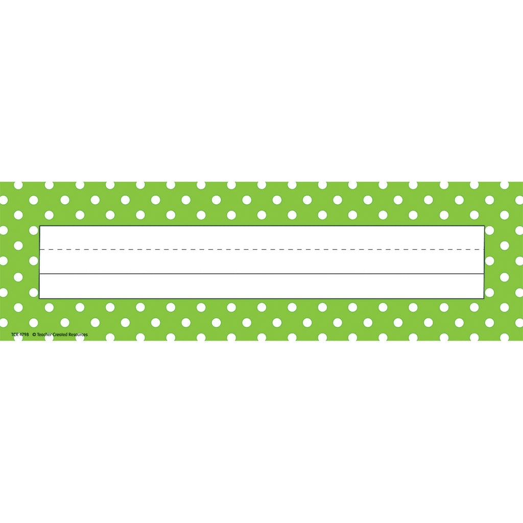 Teacher Created Resources Lime Polka Dots Name Plates (flat)