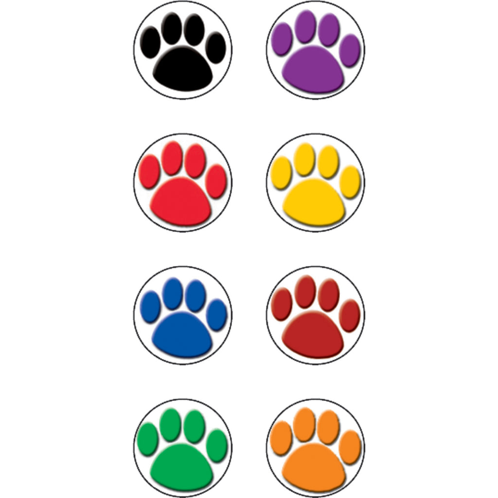 Teacher Created Resources Colorful Paw Prints Mini Stickers