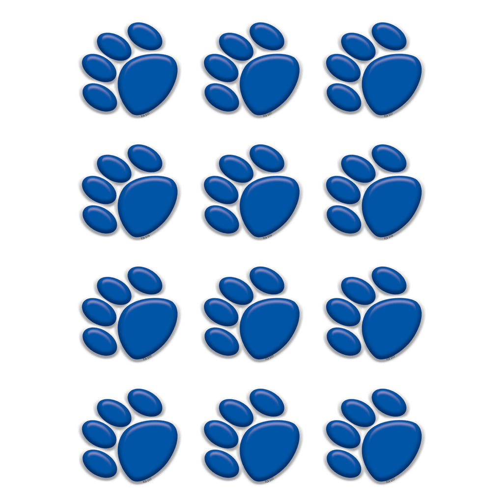 Teacher Created Resources Blue Paw Prints Mini Accents