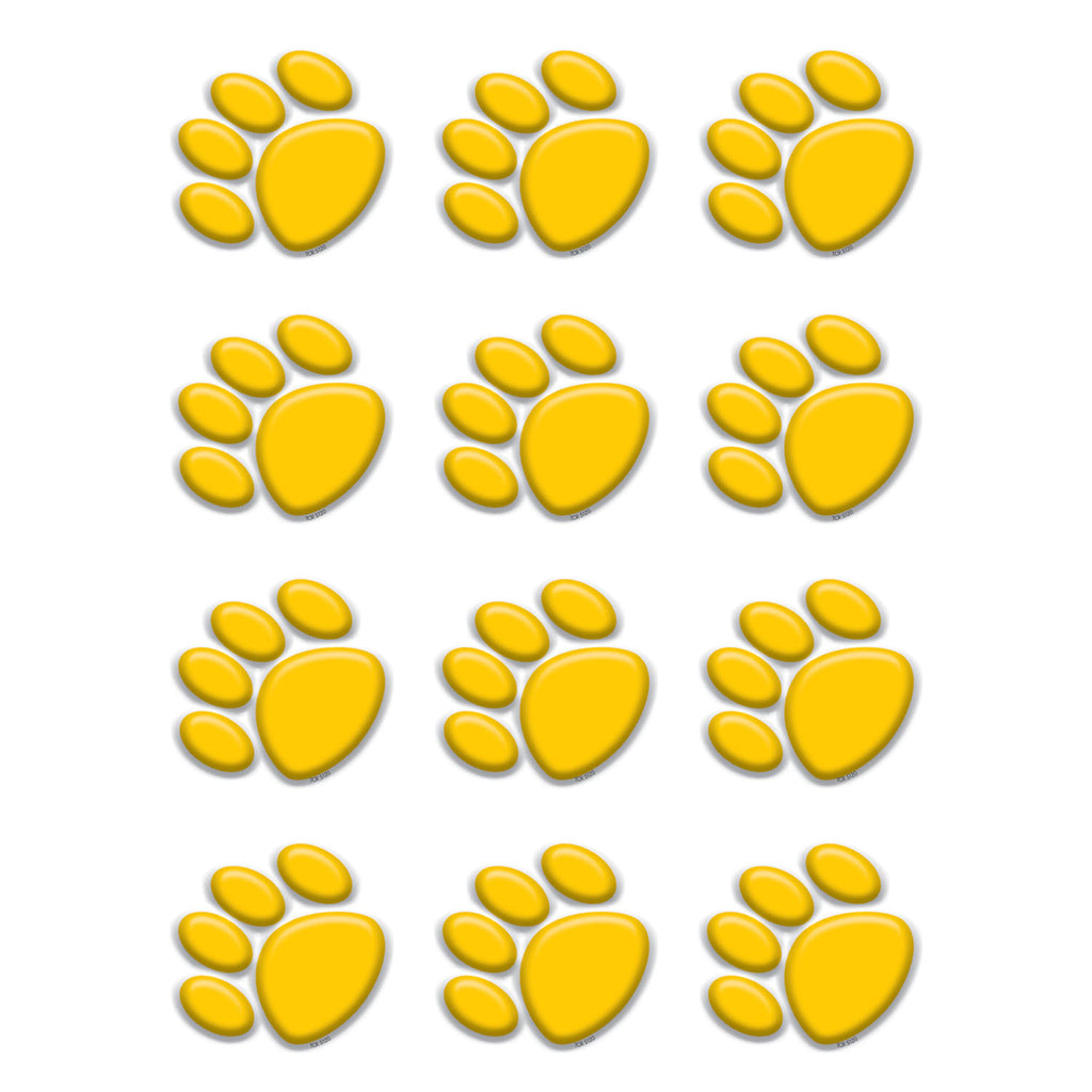 Teacher Created Resources Gold Paw Prints Mini Accents