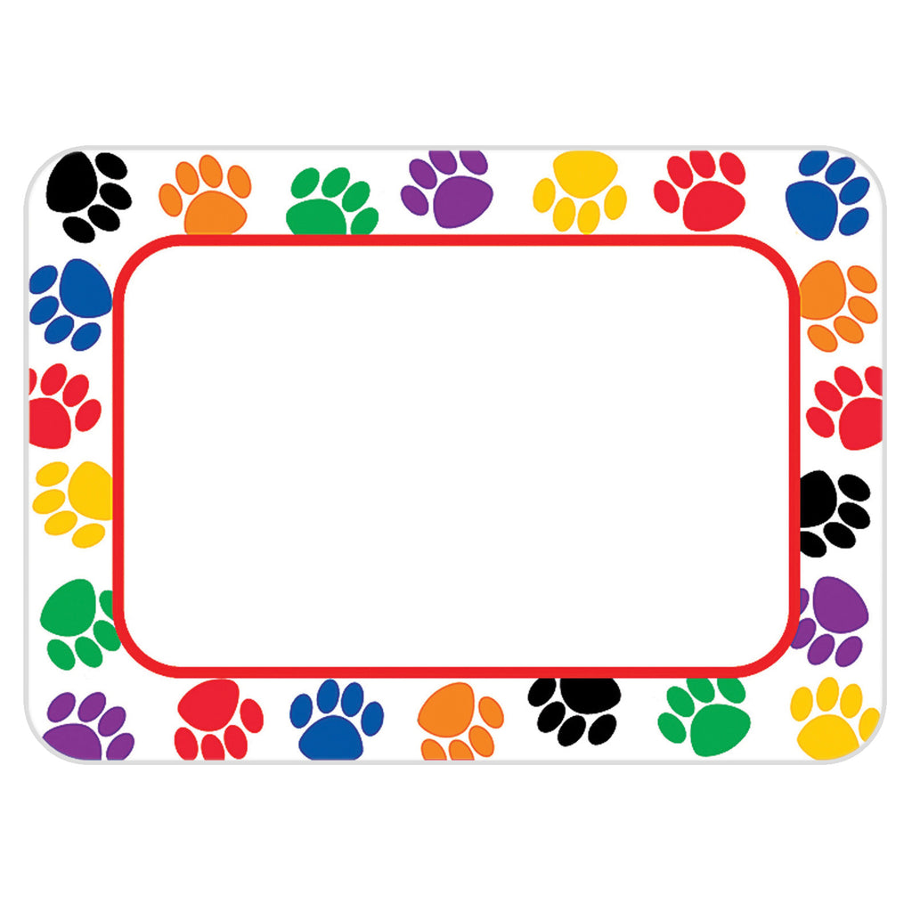 Teacher Created Resources Colorful Paw Prints Name Tags