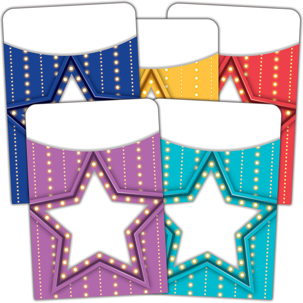 Teacher Created Resources Marquee Library Pockets - Multi-Pack