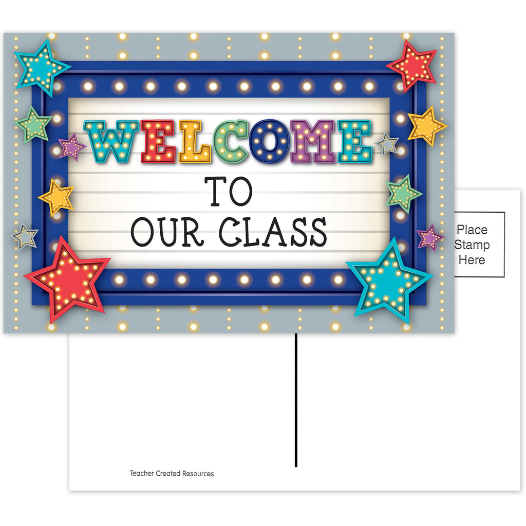 Teacher Created Resources Marquee Welcome Postcards