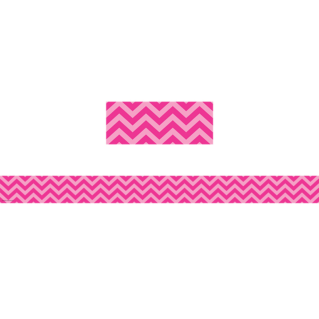 Teacher Created Resources Hot Pink Chevron Straight Bulletin Board Border