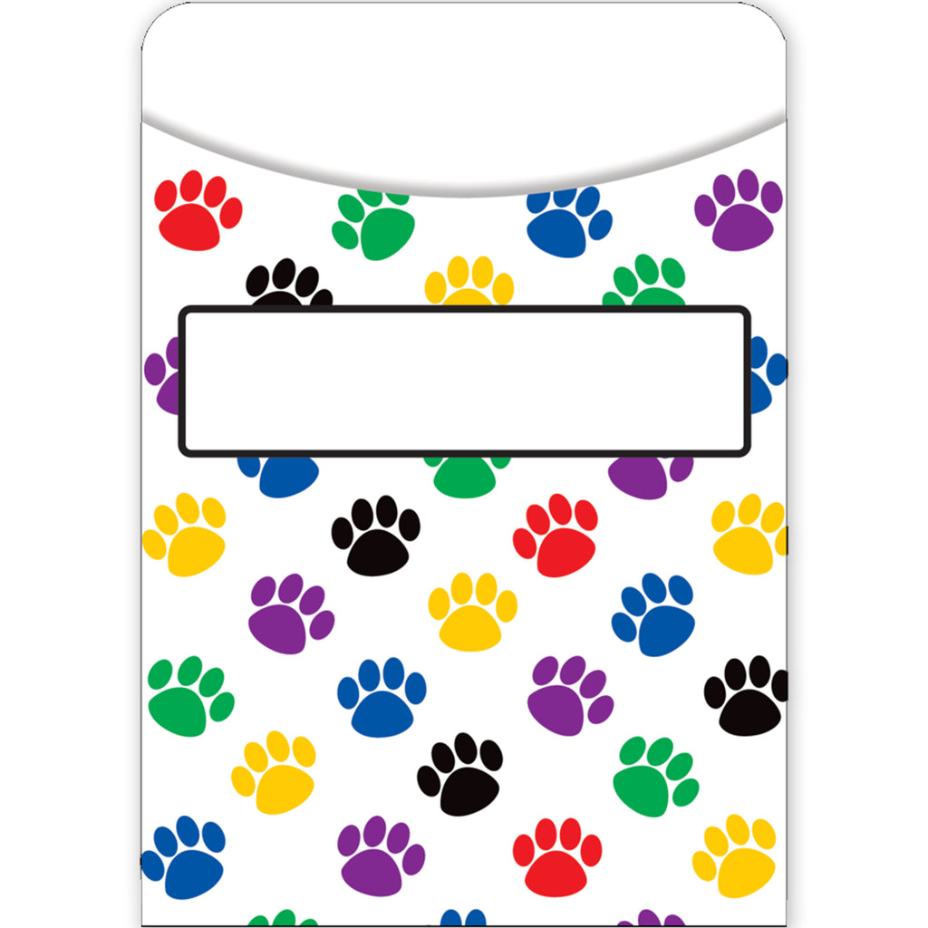 Teacher Created Resources Paw Print Library Pockets