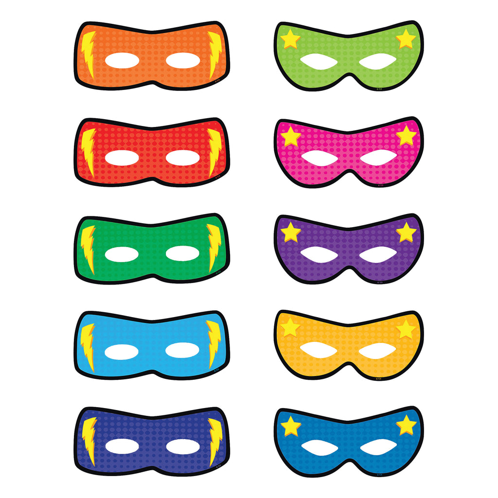 Teacher Created Resources Superhero Masks Bulletin Board Accents