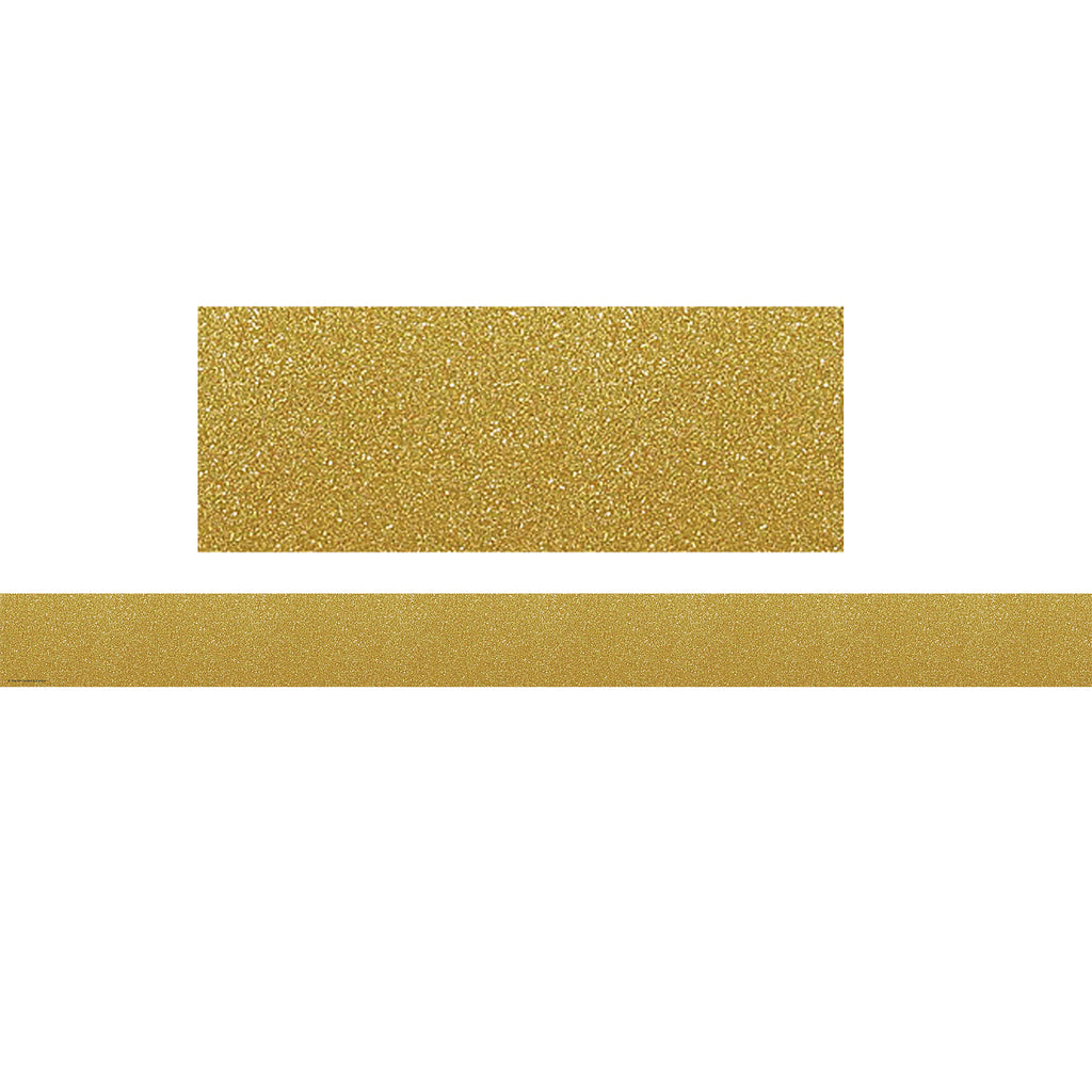 Teacher Created Resources Gold Shimmer Straight Bulletin Board Border