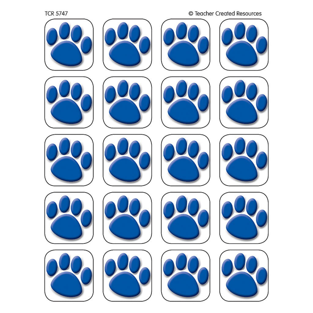 Teacher Created Resources Blue Paw Prints Stickers