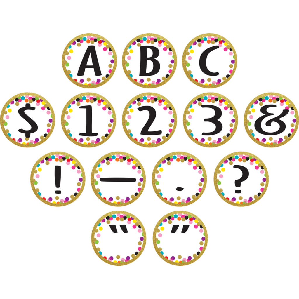 Teacher Created Resources Confetti Circle Letters