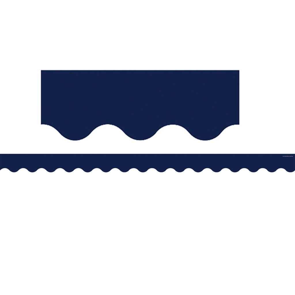 Teacher Created Resources Navy Scalloped Bulletin Board Border