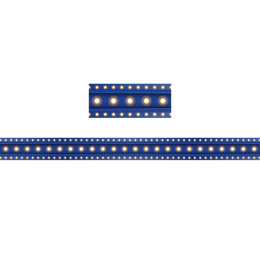 Teacher Created Resources Dark Blue Marquee Straight Bulletin Board Border