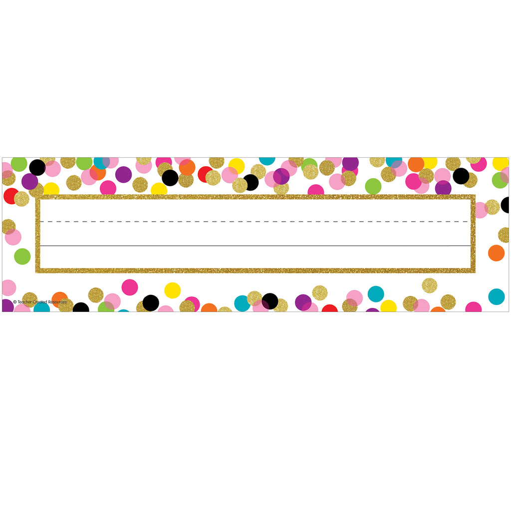 Teacher Created Resources Confetti Flat Name Plates
