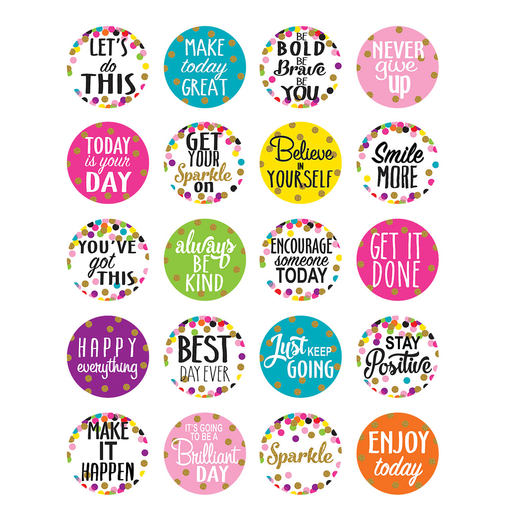 Teacher Created Resources Confetti Words to Inspire Planner Stickers