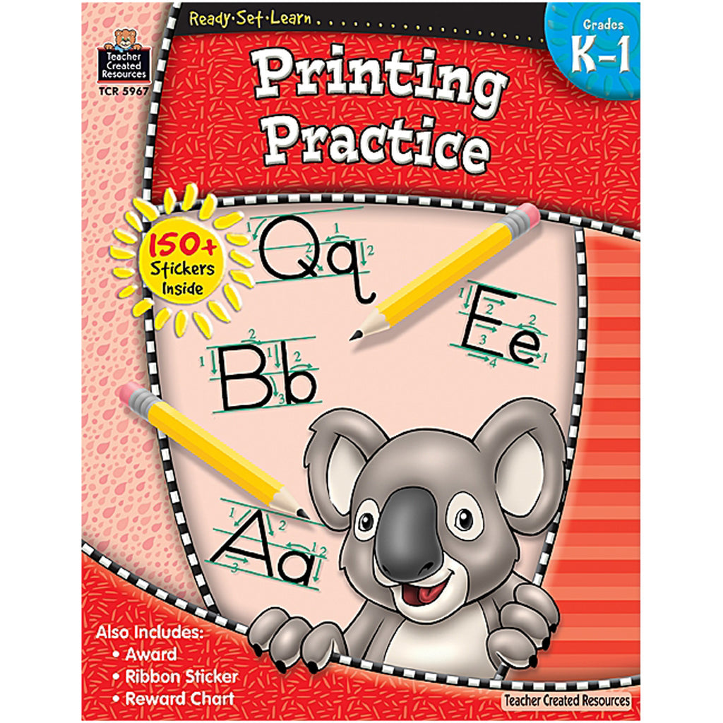 Teacher Created Resources Ready-Set-Learn: Printing Practice Grade K-1