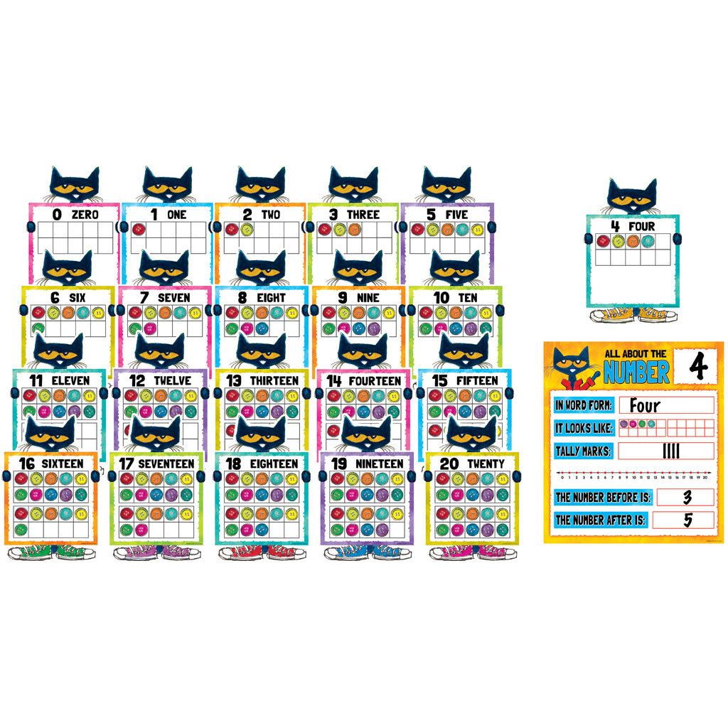 Teacher Created Resources Pete the Cat® Numbers 0-20 Bulletin Board