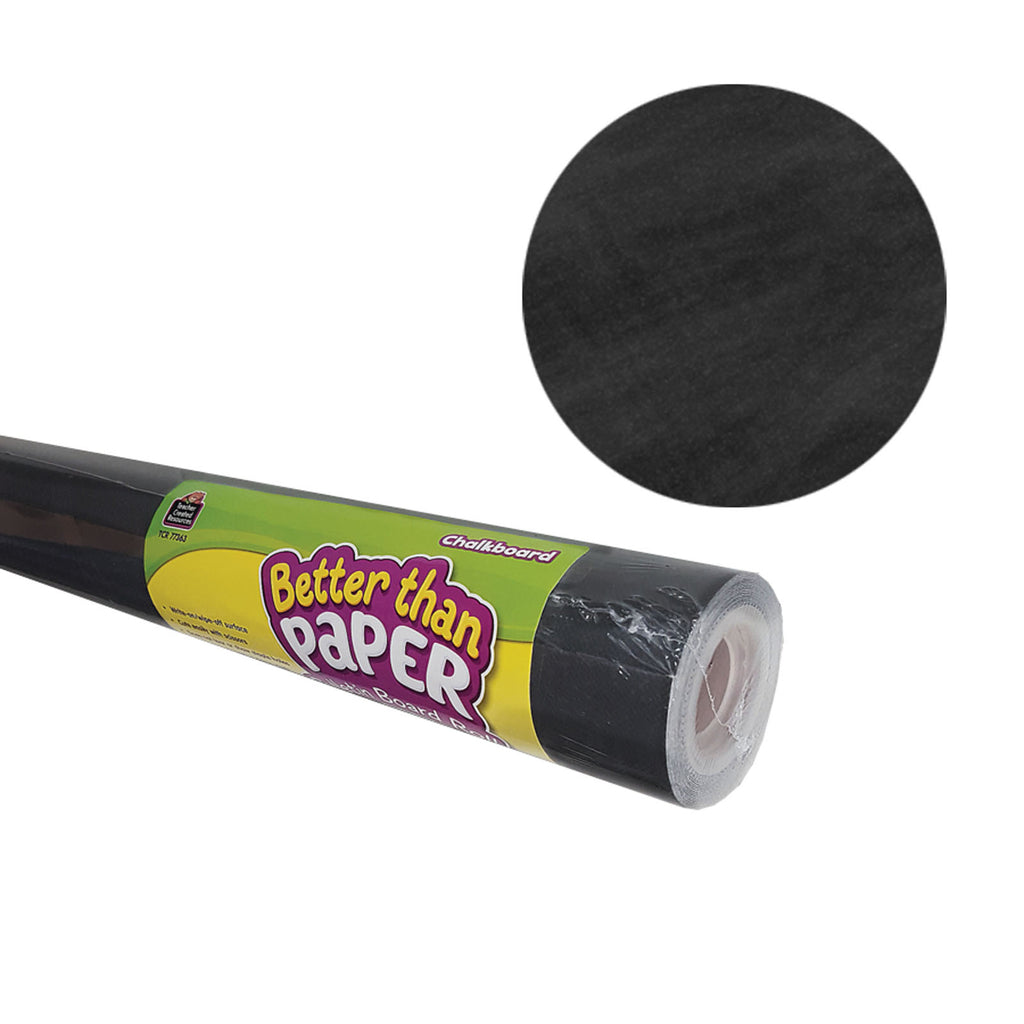 Teacher Created Resources Chalkboard Better than Paper Bulletin Board Fabric, Four 4' x 12' Rolls