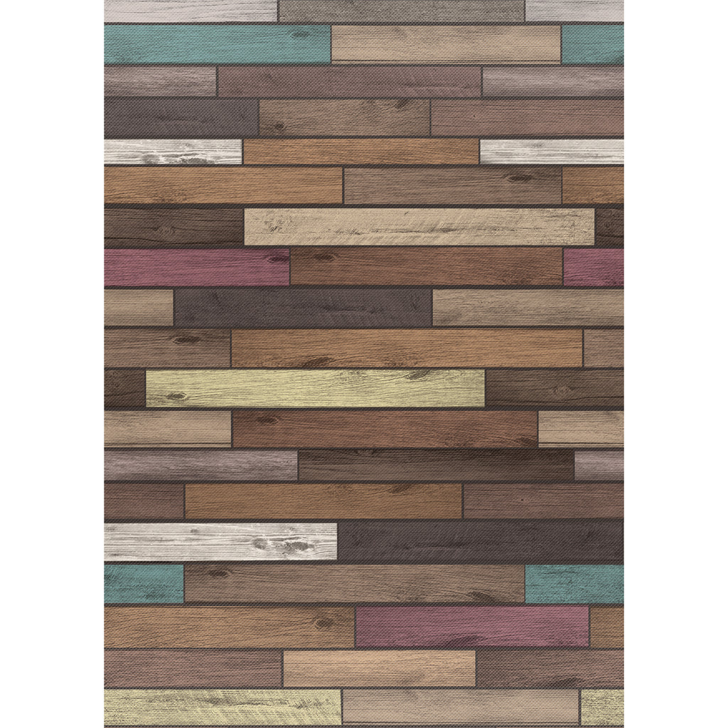 Teacher Created Resources Reclaimed Wood Better than Paper Bulletin Board Fabric, Four 4' x 12' Rolls