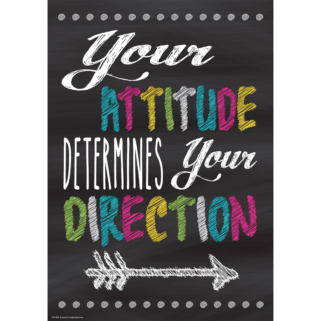 Teacher Created Resources Your Attitude Determines Your Direction Positive Poster