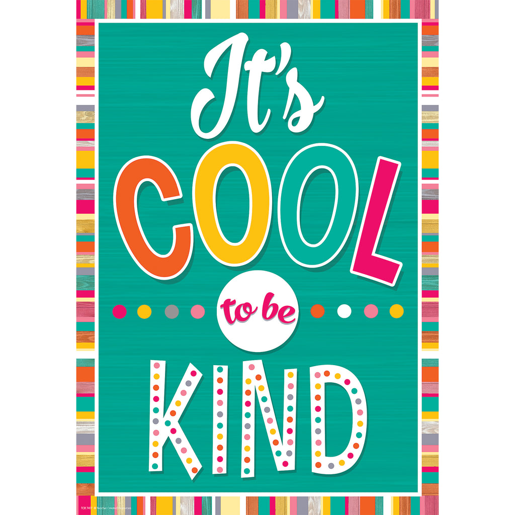 Teacher Created Resources It's Cool To Be Kind Positive Poster