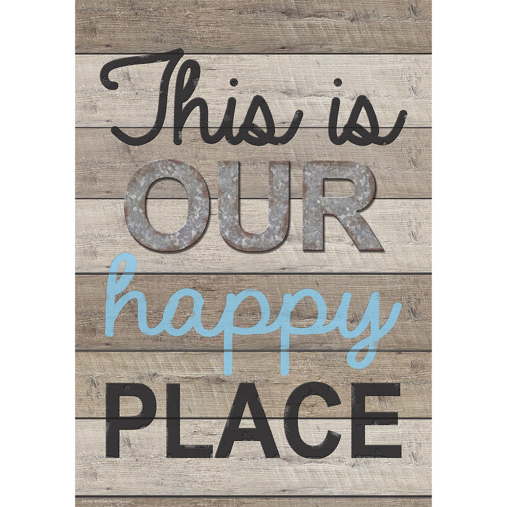 "Teacher Created Resources Home Sweet Classroom ""This is Our Happy Place"" Poster"